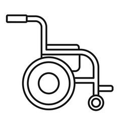 Side view wheelchair icon outline style vector
