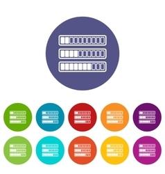 Sign horizontal columns download online set icons vector