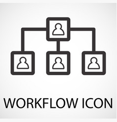 Simple workflow line art icon vector