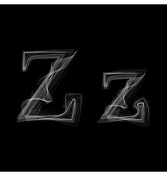 Smoke font Letter Z vector