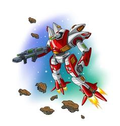 Space flying robot vector