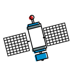 Space satellite isolated icon vector