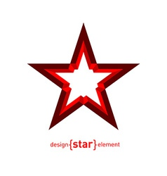 Star Abstract design element vector