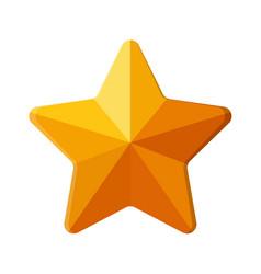Star shape ornament on white background vector