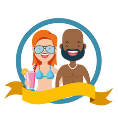 summer time people vector image