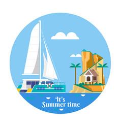 summer vacation holiday tropical ocean island vector image