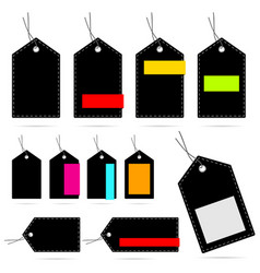tag blank design set collection color vector image