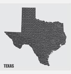 Texas counties map vector