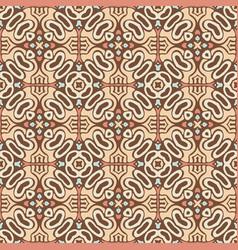 tribal indian flower ethnic seamless design vector image