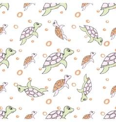 Turtles in cartoon style vector