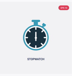 Two color stopwatch icon from tools and utensils vector