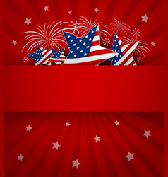 Usa background design of 4 july independence day vector