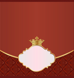 Vintage background with crown and decorative frame vector