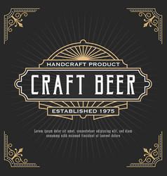 vintage line frame design for label banner vector image