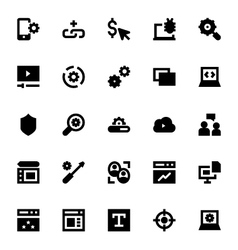 Web Design and Development Icons 2 vector