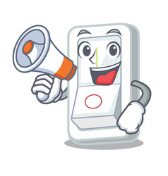 with megaphone light switch in the cartoon shape vector image