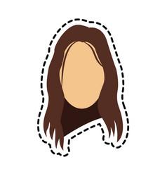 woman face icon vector image