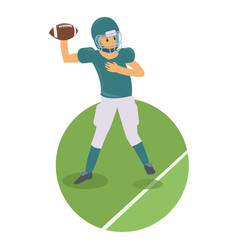 young player throwing a ball in american football vector image