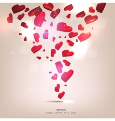 beautiful background with hearts valentines day vector image vector image