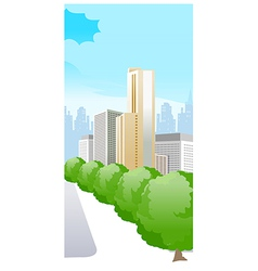 city with trees vector image