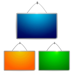 Colored tables vector