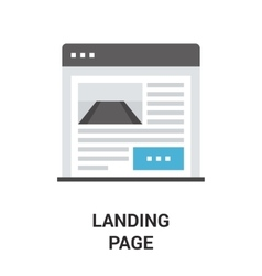 landing page icon vector image vector image