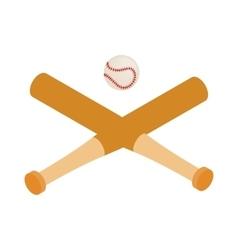Baseball bats and baseball isometric 3d icon vector image