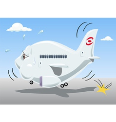 bouncing airplane vector image vector image
