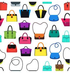 cartoon handbag or female bags background pattern vector image vector image