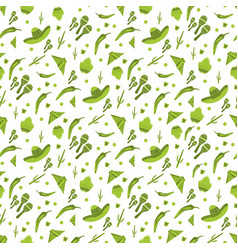 seamless pattern with traditional mexican vector image