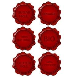 Set of wax seals vector image