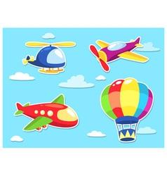 Air Transportation Cartoon vector image vector image
