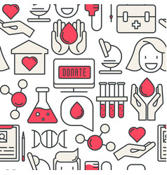 blood donation seamless pattern vector image vector image
