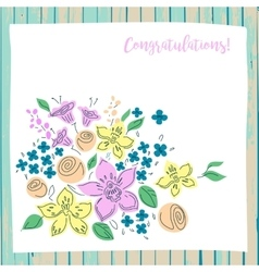 congratulation card on wood background vector image