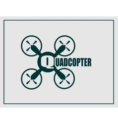 Drone quadrocopter icon quadcopter text vector