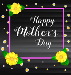 happy mother day greeting banner with frame for vector image