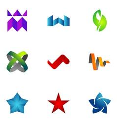 logo design elements set 73 vector image vector image