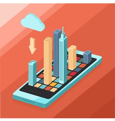Modern phone vector image vector image