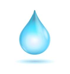 water transparent drop vector image