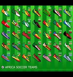 African soccer teams vector image