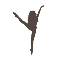 ballerina silhouette on white background vector image