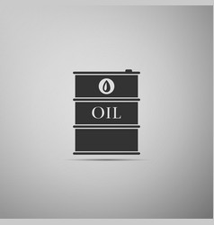barrel oil flat icon on grey background vector image vector image