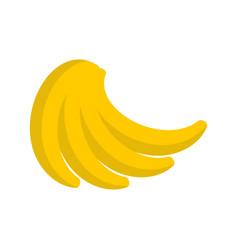 Bunch of bananas isolated pile of banana on white vector
