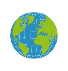 Planet icon Earth design graphic vector image
