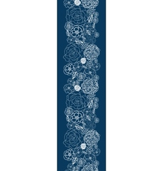 Purple lace flowers vertical seamless pattern vector image