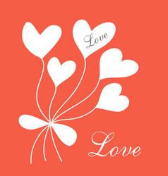 romantic postcard vector image