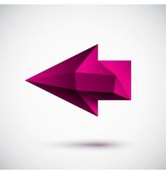 3d magenta left arrow vector