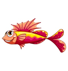 A colorful fish smiling vector image
