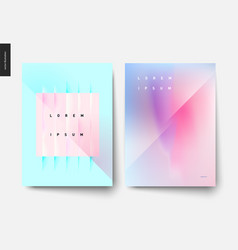 abstract background posters set vector image