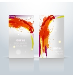 Abstract visit cards vector